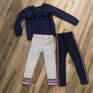 Carter's Leggings and Sweatshirt set 3T